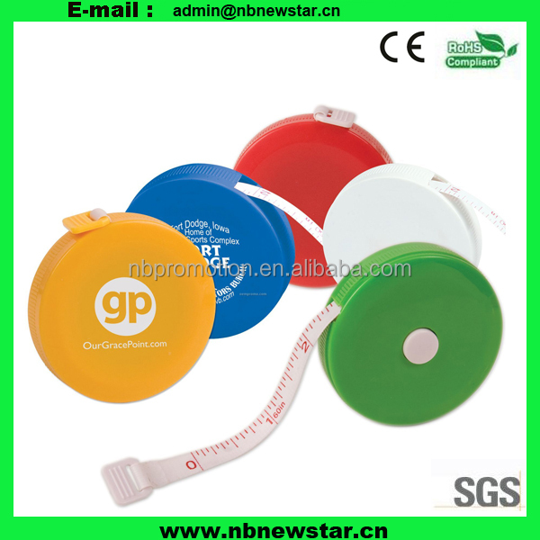 Cheap Promotional Round mini printable tape measure
