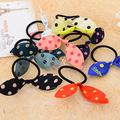 Korean Girls Lovely Elastic Hair Bands Rabbit Ear Kids Hair Rope Women Basic Hair rings Accessories