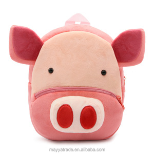Hotselling Cute Pink Pig Zoo Series Good Quality Factory Price Squishy Super Soft Studetns Backpack Shoulder Bag