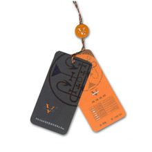 Custom printing garment swing tag paper hang tag for clothing