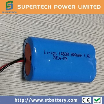 China Supplier Rechargeable Li Ion 18650 Battery Pack 7 4v