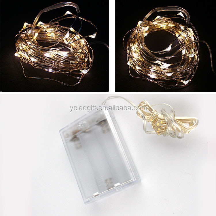 Christmas Led Copper Wire String Lights 2m Powered Ultra Thin Copper ...