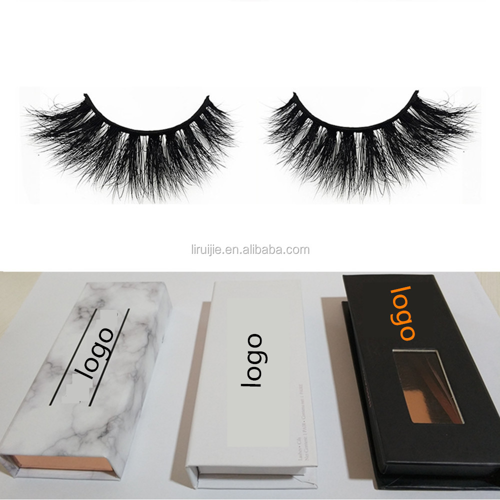 94384a02c47 100% Siberian 3D Mink Fur False Lashes HandMade Wispy Natural Thick  Reusable Mink Fake Eyelashes