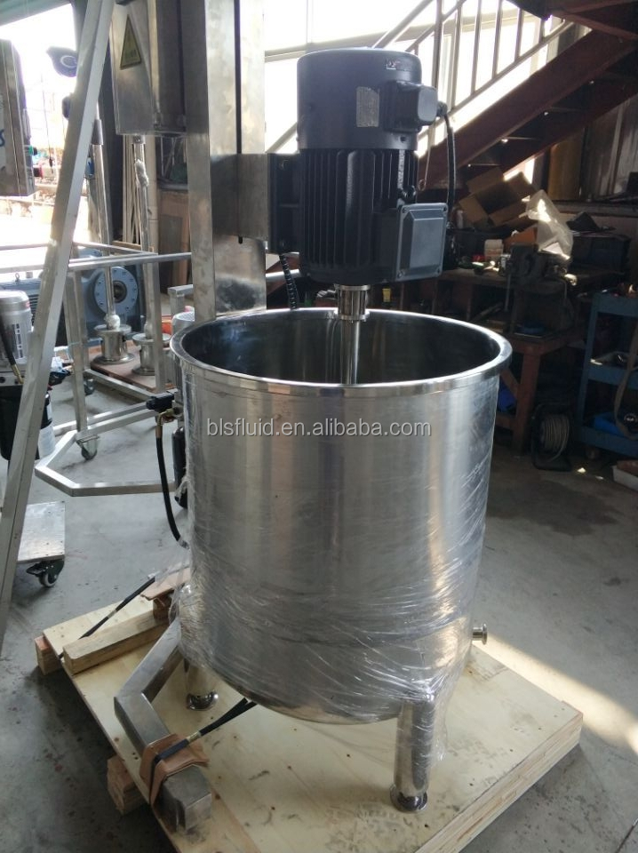 stainless steel liquid impeller mixer machine with lifting