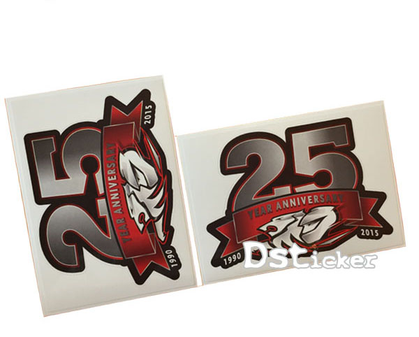 Custom Design Car Number Anti Radar Sticker label