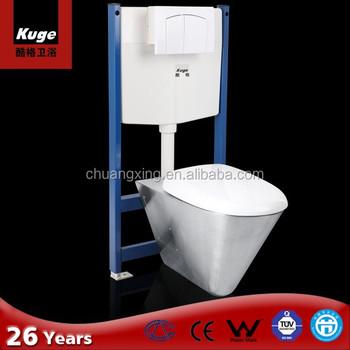 Stainless Steel Wall Floor Mounted Concealed Tank Toilet