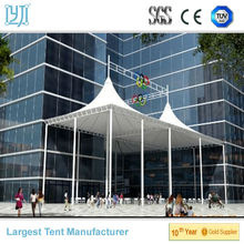 tensile membrane structure shelter for commercial Street