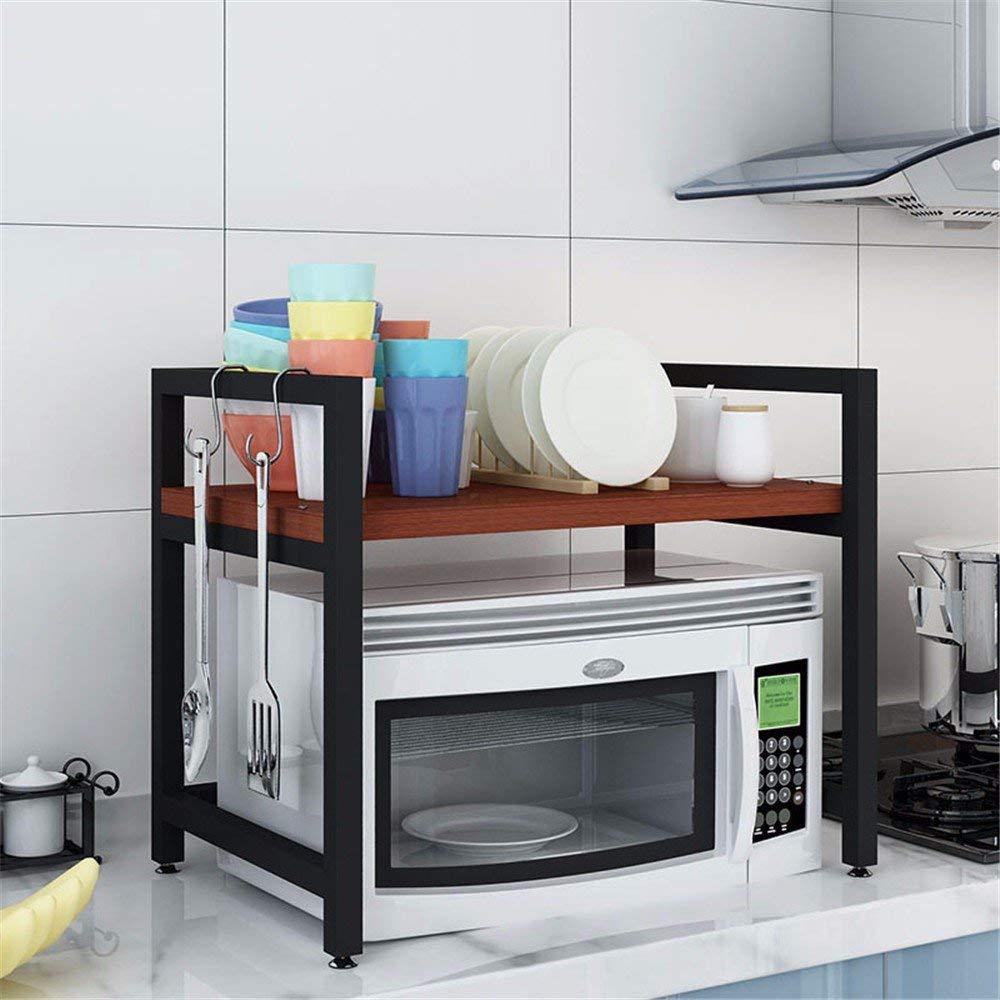 Get Quotations · BMKTR RACK Microwave Oven Shelf Kitchen Shelf 2 Layers  Storage Shelf Oven Shelf Double Shelf