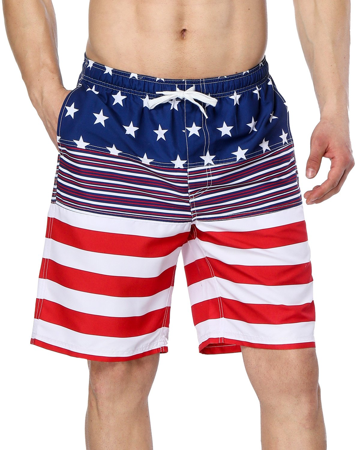 FullBo Colorado Flag Pattern Little Boys Short Swim Trunks Quick Dry Beach Shorts