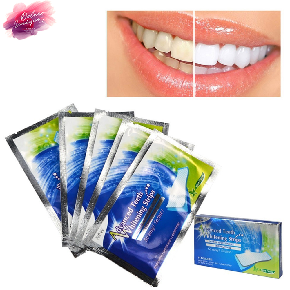 OEM Private Label 14pcs/pack 3D dental Teeth Whitening Strips