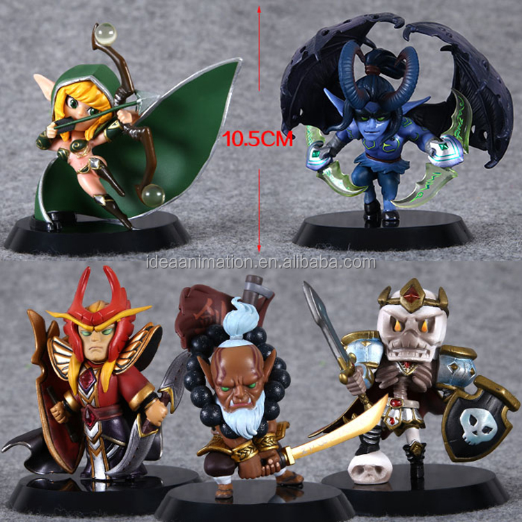 customized plastic pvc dota 2 game action figures toys factory