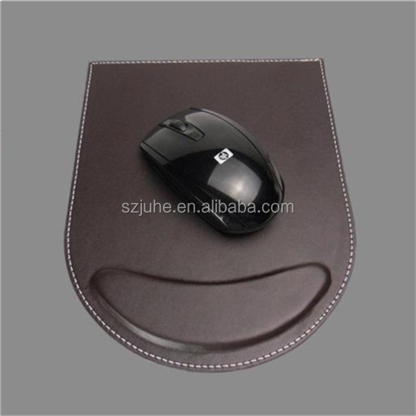 Promotion luxury leather custom gaming mouse pad