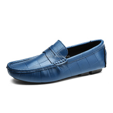 Stylish Daily Wear Slip on Footwear Men Leather Casual Shoe Sneaker Extra Soft Driving Shoes