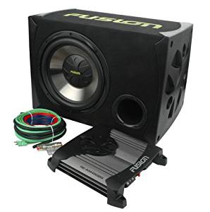Fusion Reactor RE-PK2120 Dual 12-Inch Bass Pack Complete with 900W Amp and Wiring Harness