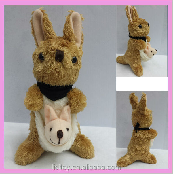 2014 new arrival plush small kangaroo toy Australia kangaroo