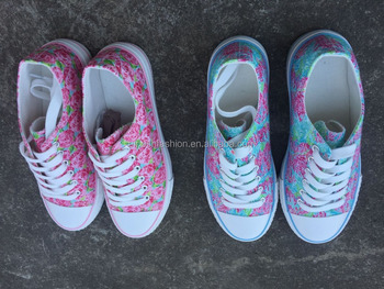 5fb3ab71d51f4e Wholesale Monogrammed Personalized Lilly Pulitzer Canvas Sports Shoes