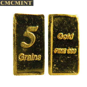 999 Feine 5 Körner Gold Bullion Bars