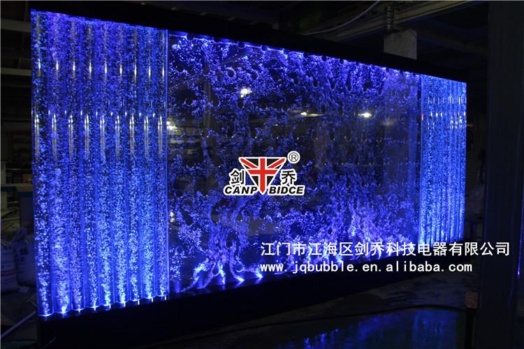 Restaurant interior designs aquatic ornaments bubble wall for Waterfall restaurant design
