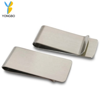 Custom Logo Metal Stainless Steel Money Clip For Men's Leather Wallet