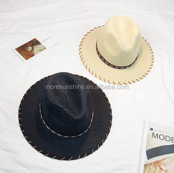 e3f4be97 Wholesale Lady Hat spring and summer Wide Brim Custom Hat paper Floppy Hat