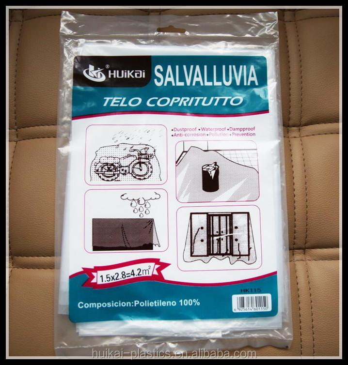 wholesale painters plastic cover for sofa paint drop cloth waterproof folding plastic sheet