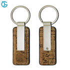 New Product Wood-like Wholesale Blank Custom Leather Keychain with Logo