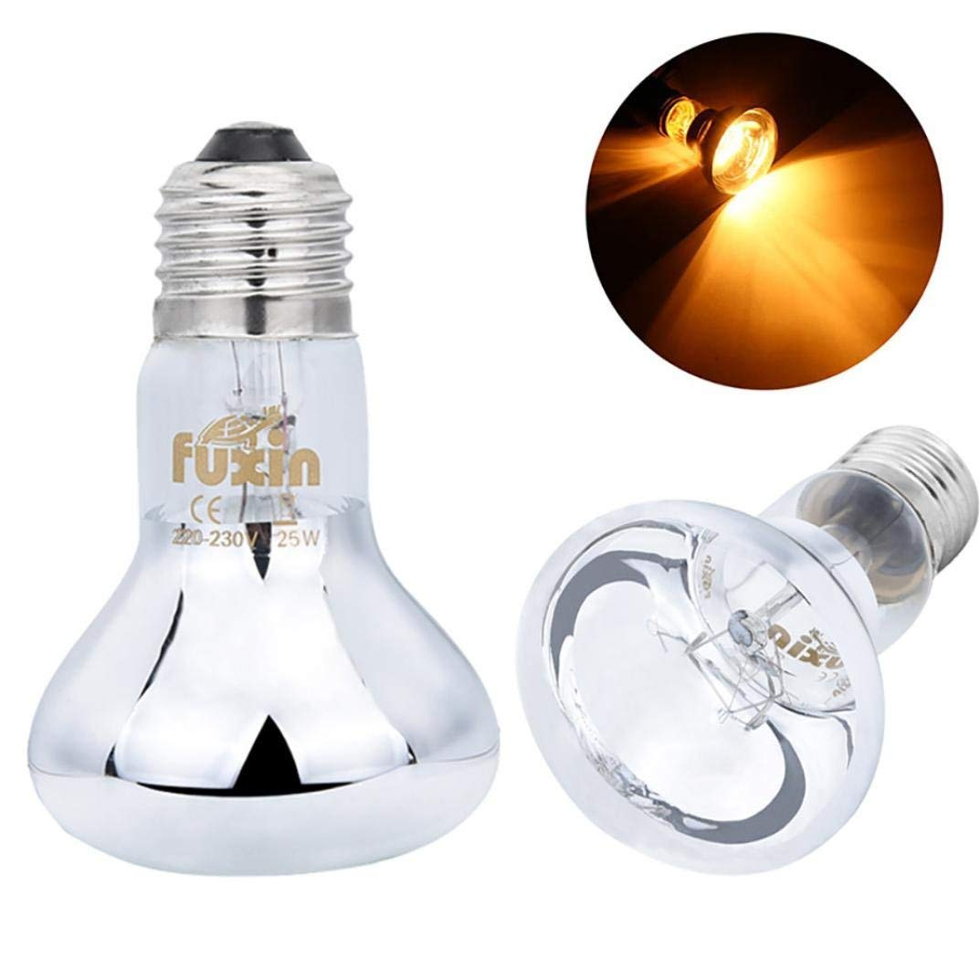 9feaa8410ec4 Get Quotations · Fheaven 220V 25W UVA Solar Lamp Day Night Amphibian Snake Lamp  Heat Reptile Bulb Light (