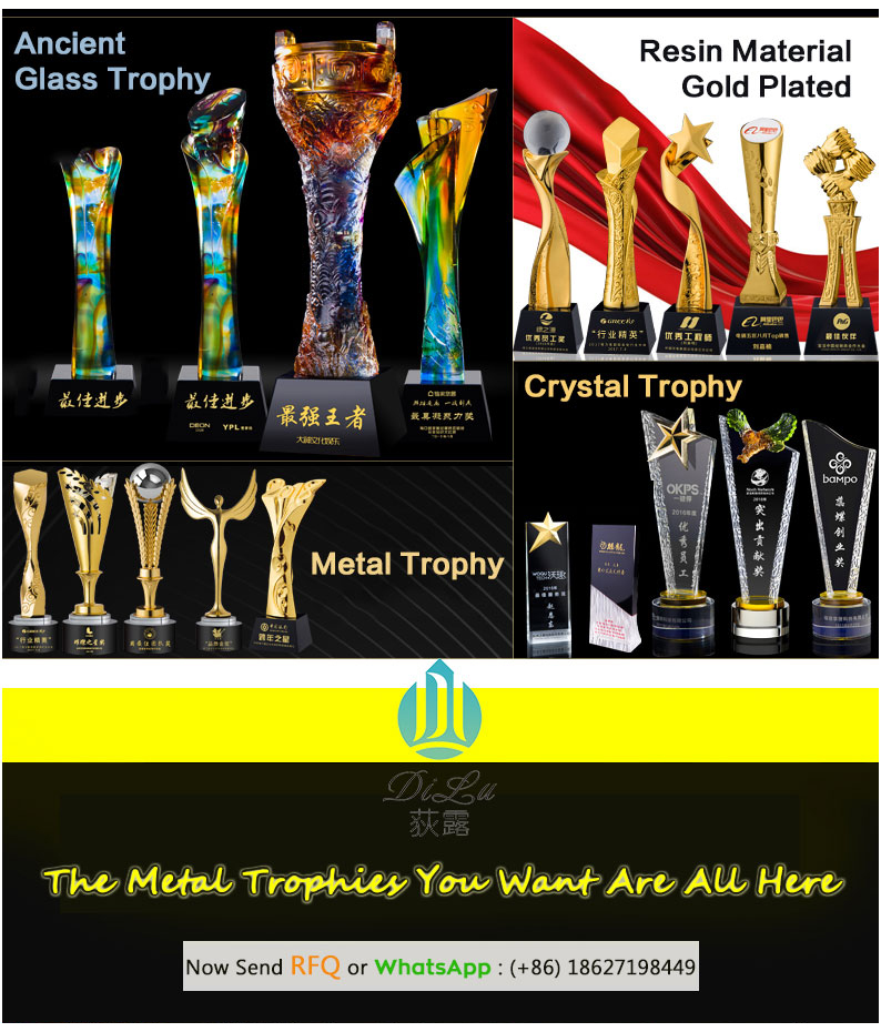 Custom High Quality 3D Carved Blank Crystal Trophy / Trophy / Plaque / Tophy Crystal