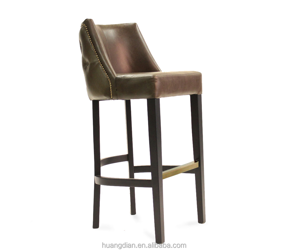 Cheap american retro leather bar stool high chair for Cheap leather chairs