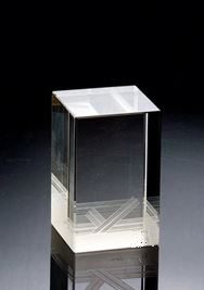 Clear glass exquisite first choice wedding square crystal block for singing trophy
