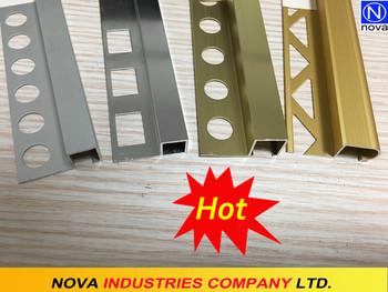 Buona finitura in alluminio profilo pavimentazione profilo bordo