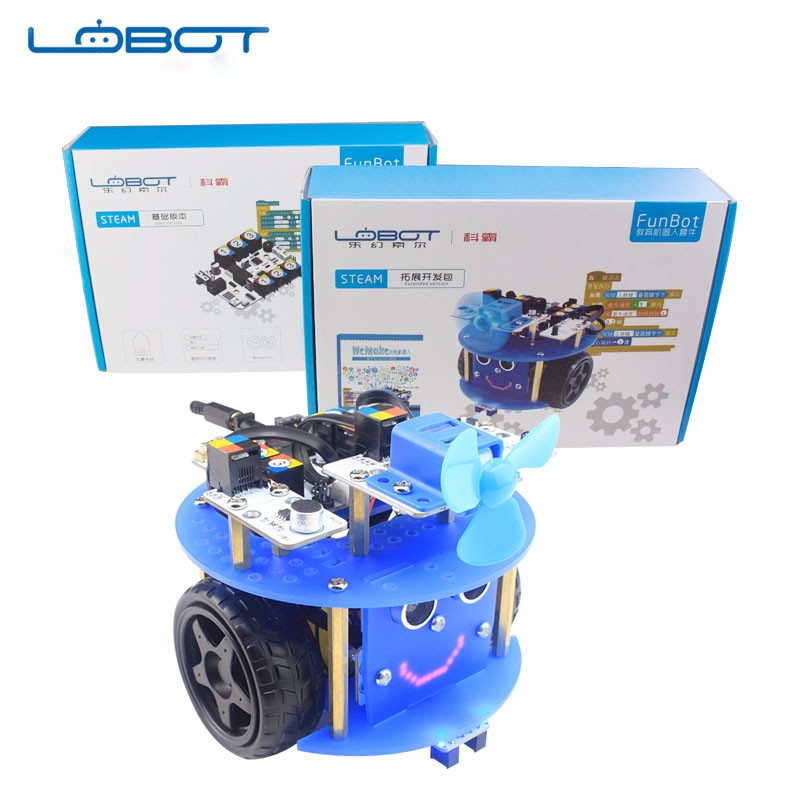 Arduino Robot with different sensors use scratch software for STEM education detail curriculum, Scratch programable robot kit