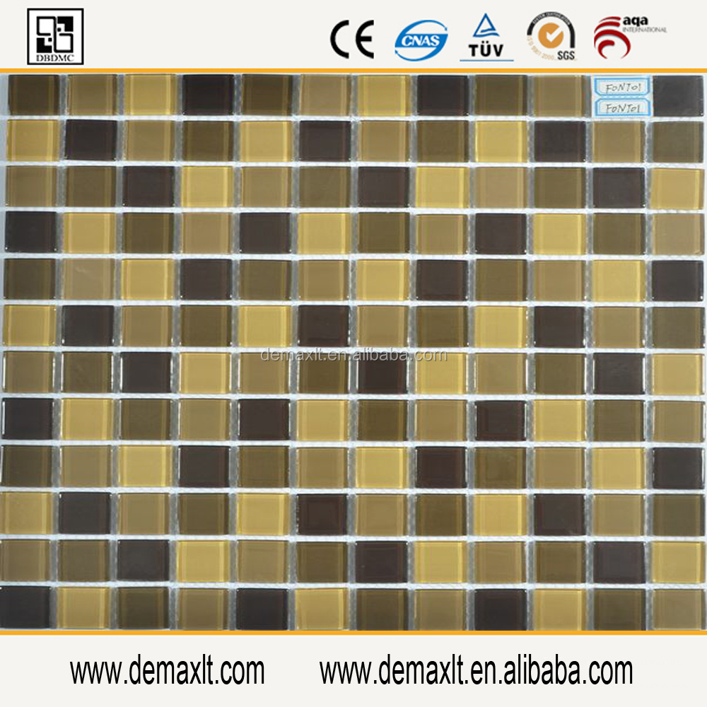 design hot sale glass mosaic tile/crystal glass tile 4mm