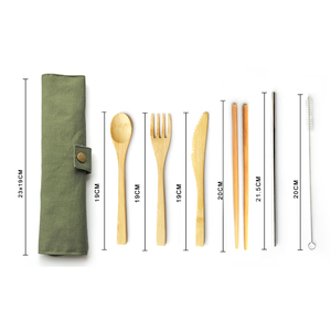 High Quality Kitchen Utensils Set New Kitchen Bamboo Travel Cutlery Set