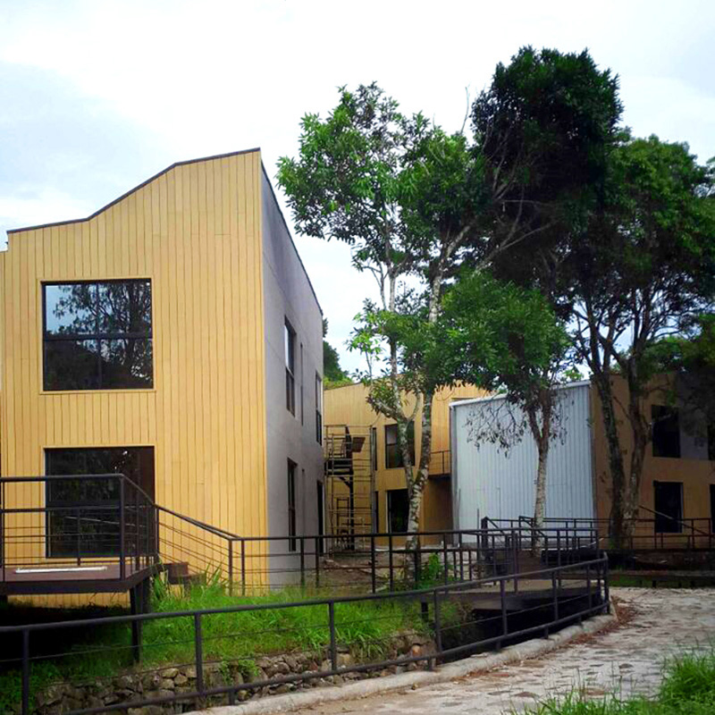 China supplier wooden prefab house out door cladding
