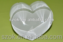 high clear exhibition acrylic heart shape award trophies factory wholesale