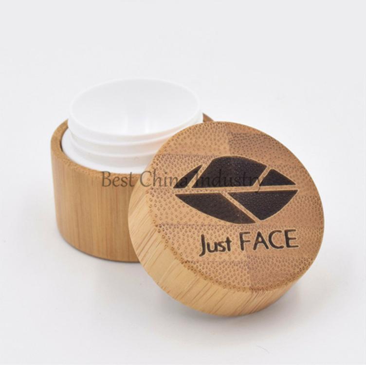 Cosmetic Bamboo Jars In Stock Custom Logo Plastic Cream Jars 5g 10g 20g  100g Bamboo Wood Jar Empty Lip Balm Containers Wood - Buy Lip Balm  Containers