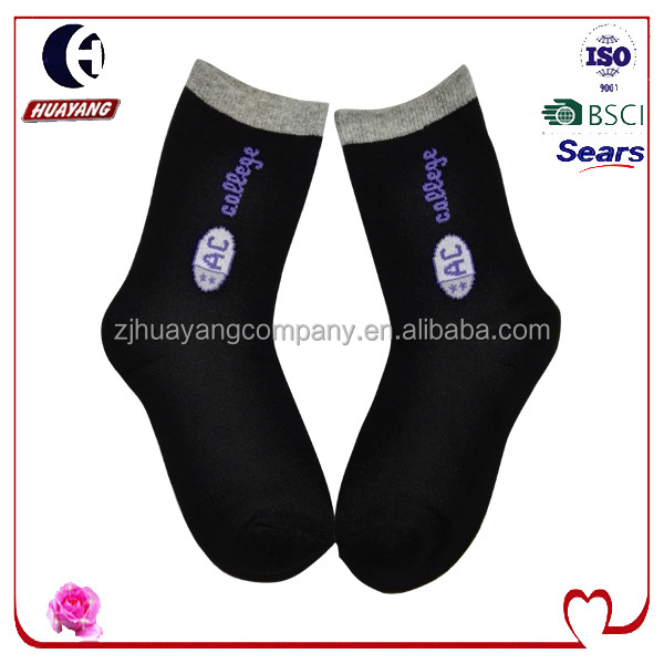 Children and Kids Socks with Double Cuff Letters Patterns Good quality Sport sock Striped cotton OEM Service #HYNS-009