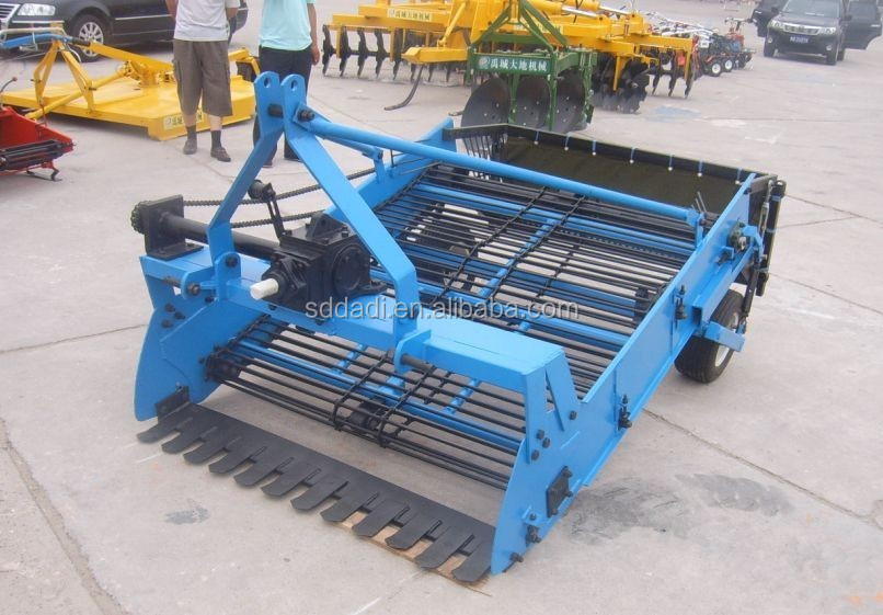 2-row potato harvester, Tractor Single row potato harvester