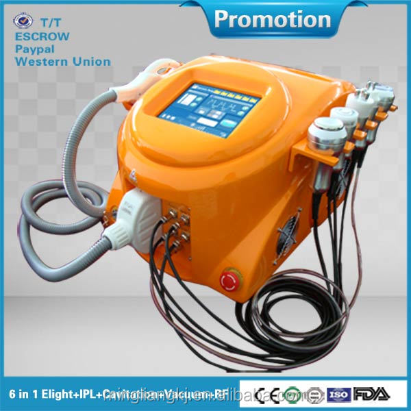 6 in 1 cavitation Vacuum rf elight system machine for pore shrink