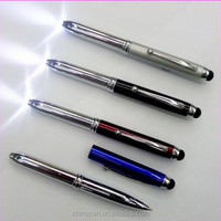 Hot selling 3 in 1 stylus pen torch/samsung galaxy note oem stylus pen