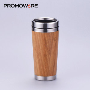 Double Walled Eco-Friendly Bamboo Mug Fiber Eco Coffee Mug with Stainless Steel liner MBS0088