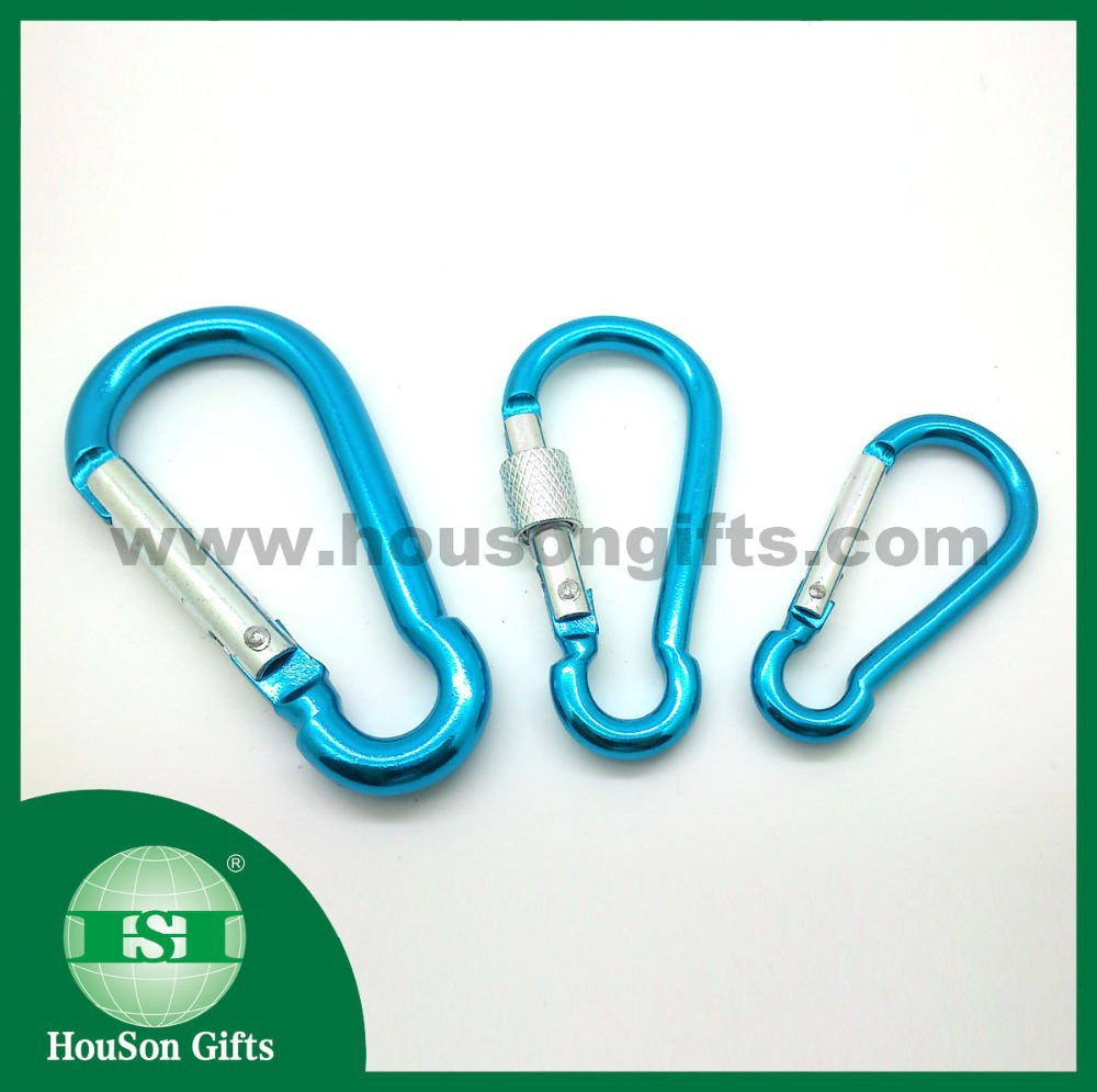 4cm 5cm 6cm light blue Pear-Shaped carabiner colored gourd snap karabiner hook wholesale