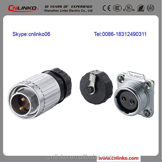 Good Quality Metal Two Poles Electric DC Male Female Metal Connector
