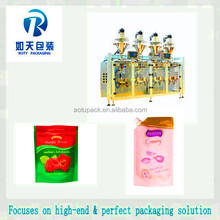 Jelly sachet filling packing machine/mini spout bag filling machine/standup pouch form fill seal machine