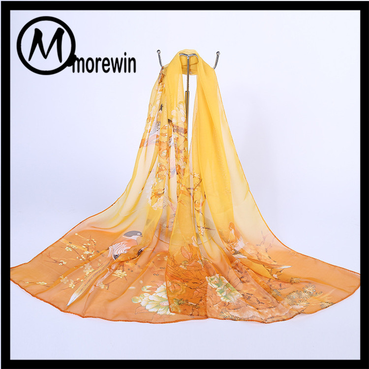 Morewin Wholesale chinese silk high qualtity womens silk scarf