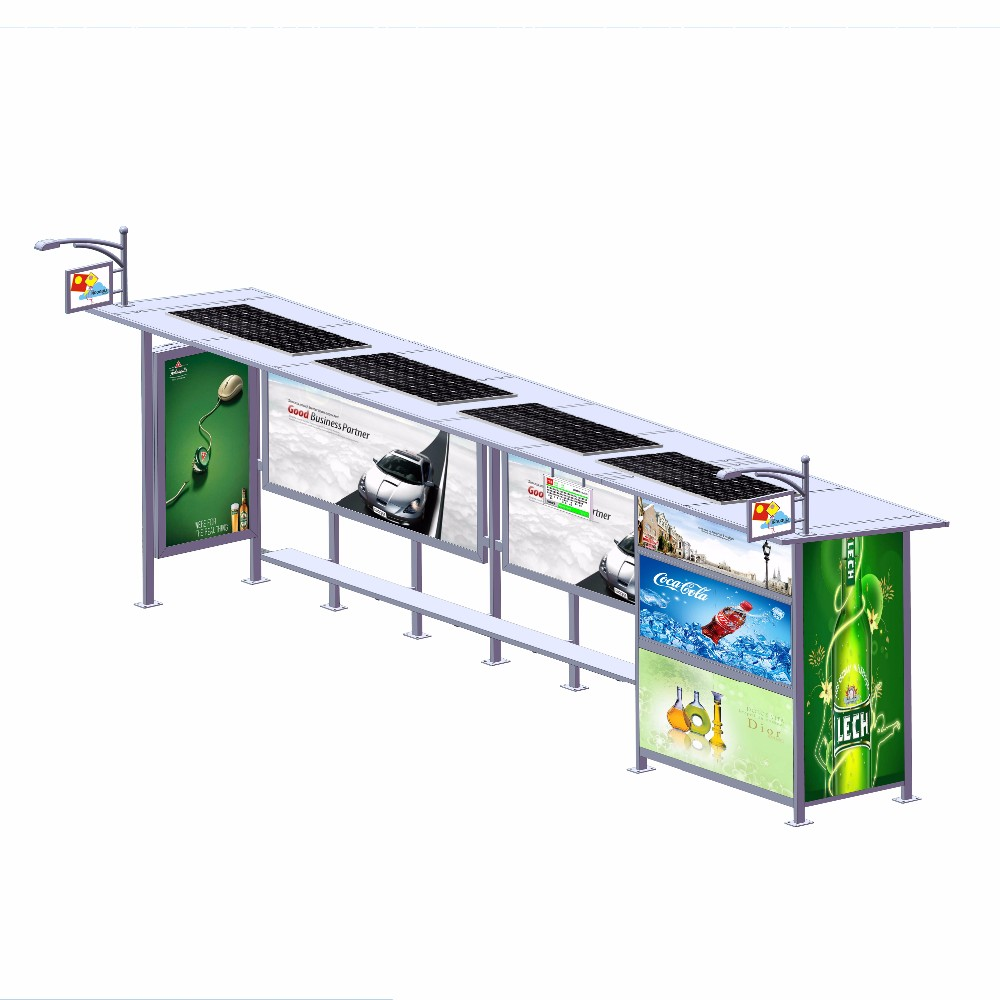 product-YEROO-2020 New Style Metal Bus Stop Shelter And Scrolling Light Box-img-3