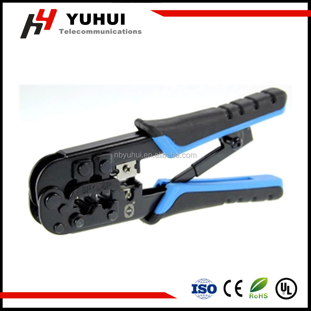 Network cable crimping tool for RJ45 RJ11 CAT.5 cable patch cord