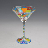 hand painted giant martini wine glass centerpiece