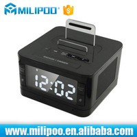Remote control Speaker Bluetooth sound box with Dual Alarm Clock and FM Radio & USB Charger and LCD time display for hotel